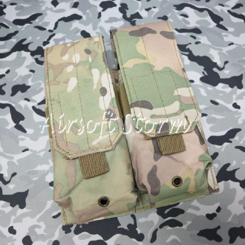 Airsoft SWAT Tactical Molle Assault Combat Double Magazine Pouch Multi Camo