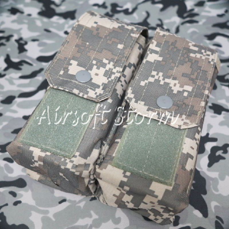 Airsoft SWAT Molle Assault Combat Double AK Magazine Pouch ACU Digital Camo