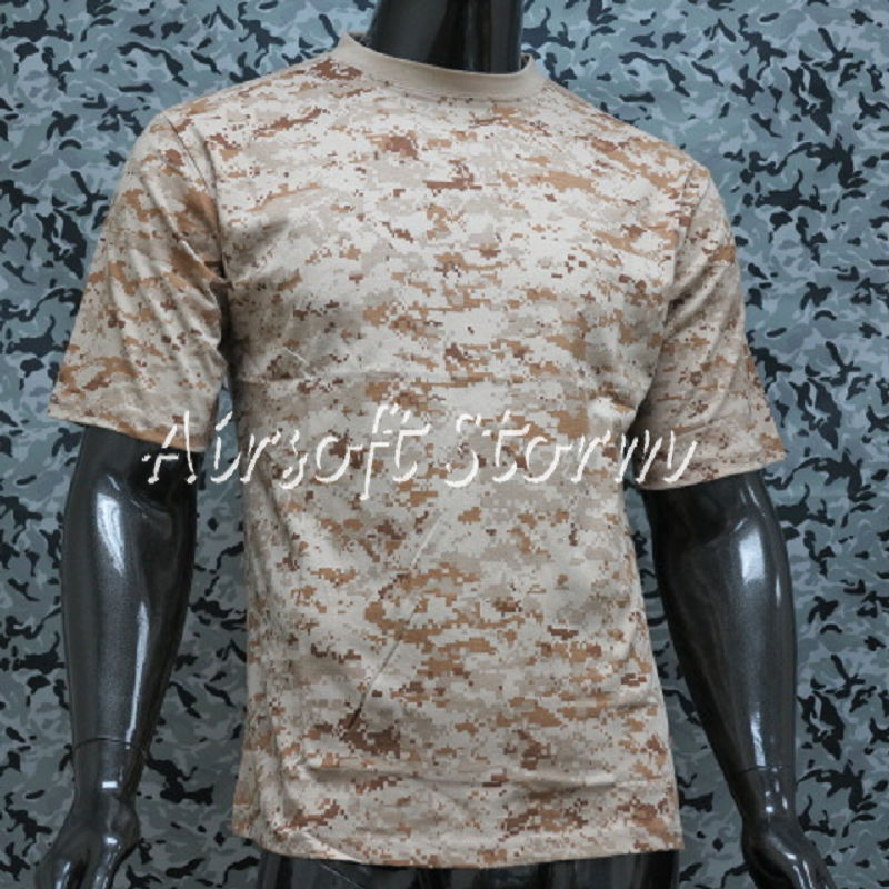 Airsoft Gear Camouflage Short Sleeve T-Shirt Desert Digital Camo