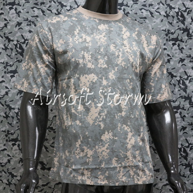 Airsoft Gear Camouflage Short Sleeve T-Shirt ACU Digital Camo