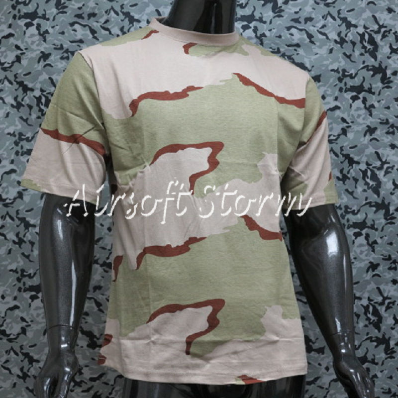 Airsoft Gear Camouflage Short Sleeve T-Shirt Desert Camo