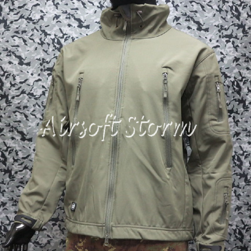 Stealth Hoodie Shark Skin Soft Shell Windproof & Waterproof Jacket Olive Drab OD