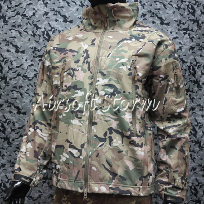 Stealth Hoodie Shark Skin Soft Shell Windproof & Waterproof Jacket Multi Camo