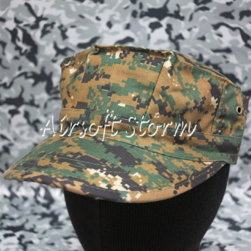 Airsoft SWAT Gear MIL-SPEC Marine Cadet Patrol Cap Hat Woodland Digital Camo