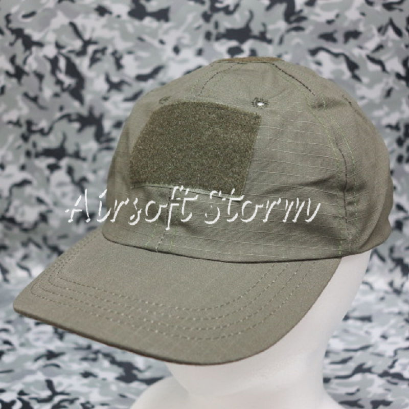 Airsoft SWAT Gear MIL-SPEC Velcro Patch Baseball Cap Hat Olive Drab OD