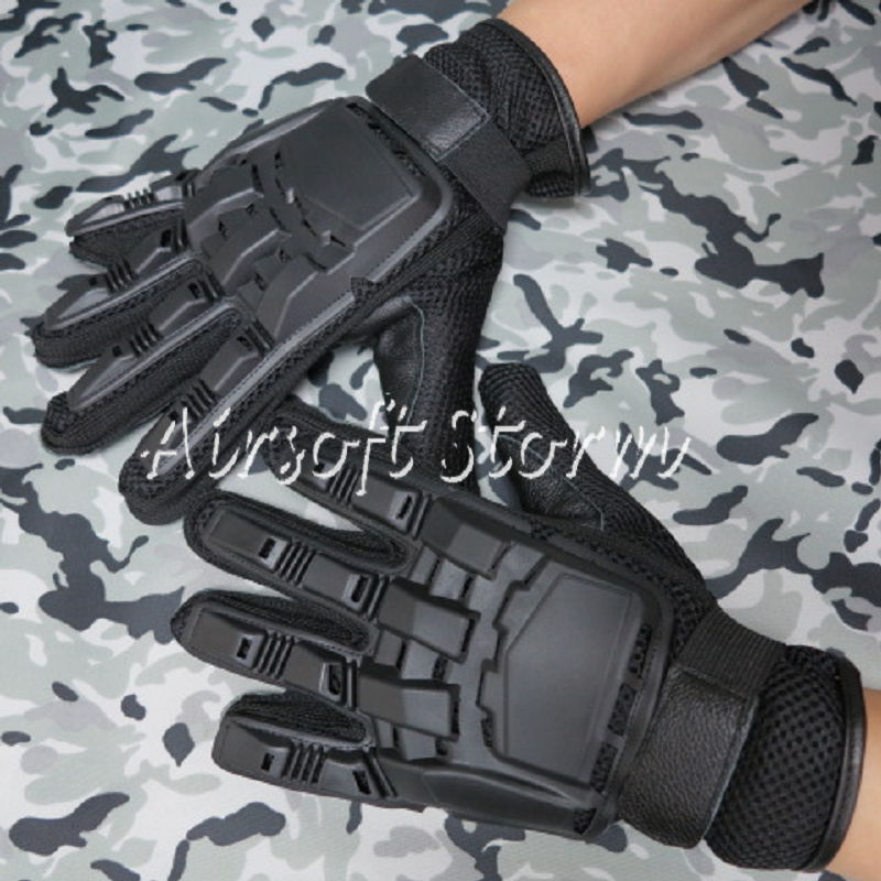 Airsoft SWAT Tactical Gear Full Finger Assault Combat Gloves Black
