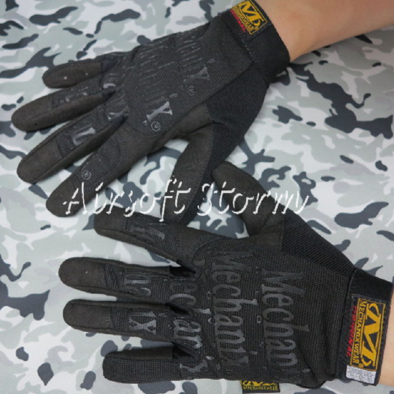 Airsoft SWAT Tactical Full Finger Outdoor Sport Gloves Black - Click Image to Close