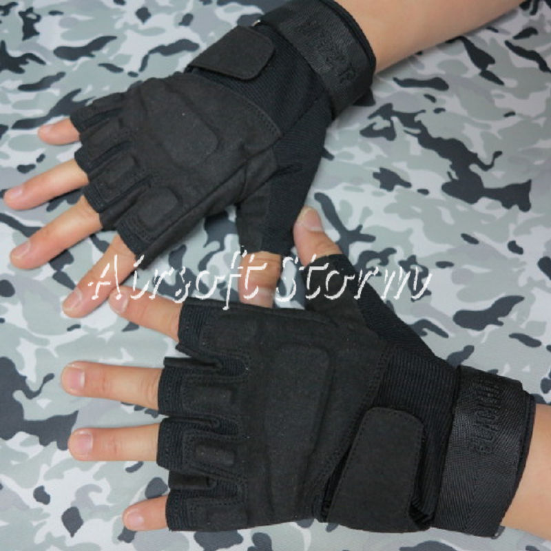 Airsoft-SWAT-Special-Operation-Tactical-Half-Finger-Assault-Gloves-Black