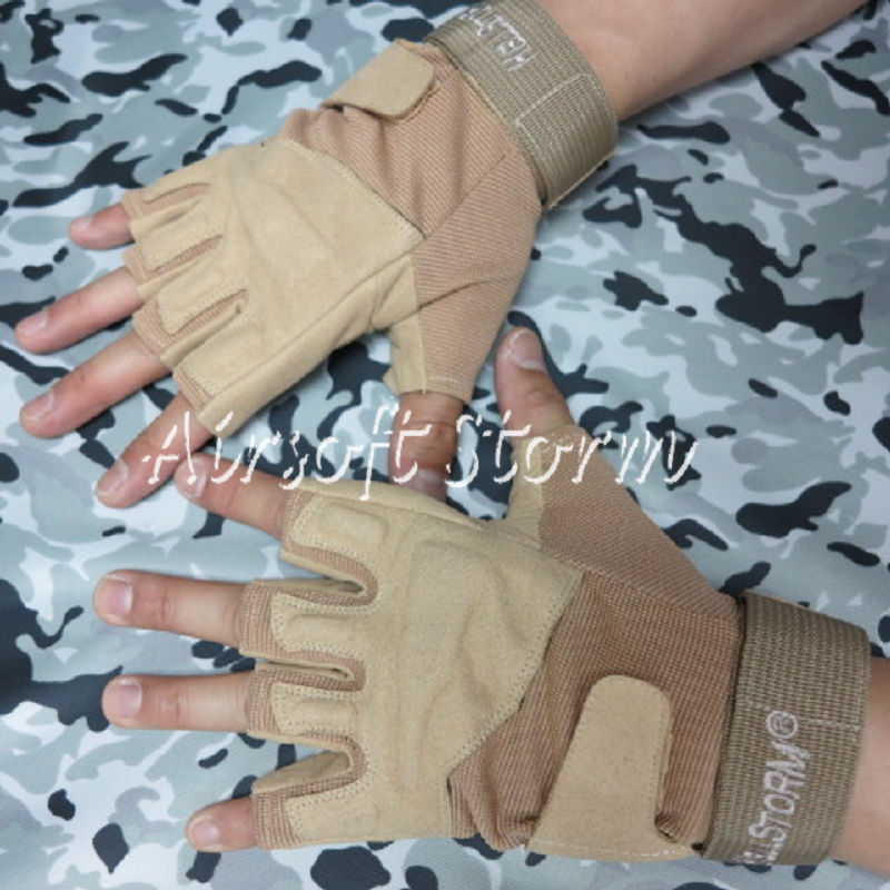 Airsoft-SWAT-Special-Operation-Tactical-Half-Finger-Assault-Gloves-Desert-Tan