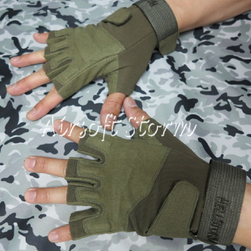 Airsoft-SWAT-Special-Operation-Tactical-Half-Finger-Assault-Gloves-Olive-Drab-OD