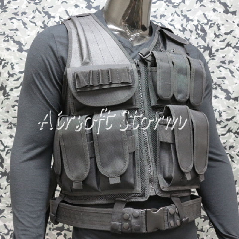 Deluxe Airsoft SWAT Tactical Gear Combat Mesh Vest Black