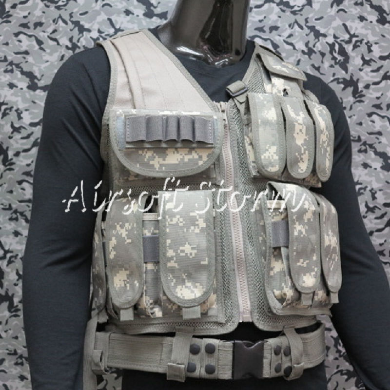 Deluxe Airsoft SWAT Tactical Gear Combat Mesh Vest ACU Digital Camo
