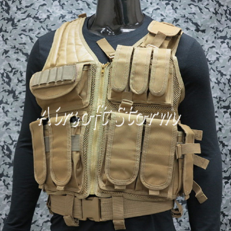 Airsoft SWAT Tactical Gear Hunting Combat Vest Coyote Brown