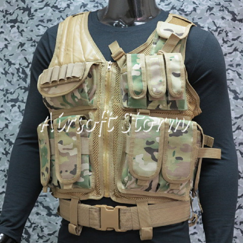 Airsoft SWAT Tactical Gear Hunting Combat Vest Multi Camo