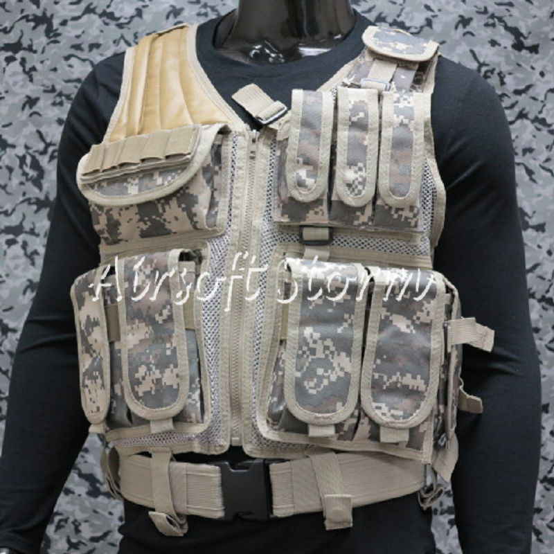 Airsoft SWAT Tactical Gear Hunting Combat Vest ACU Digital Camo