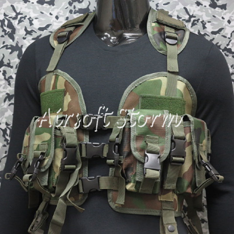 US Navy Seal CQB LBV Modular Assault Tactical Gear Vest Woodland Camo