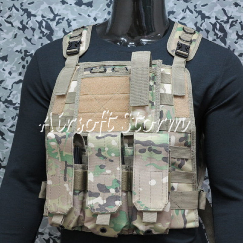 Airsoft SWAT Tactical Gear Marine Assault Plate Carrier Vest Multi Camo