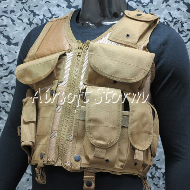 Airsoft SWAT Hunting Combat Tactical Assault Vest Coyote Brown