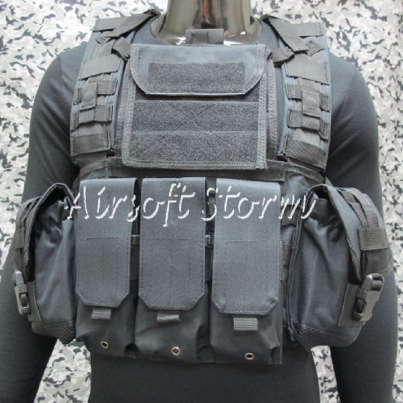 Airsoft SWAT Molle Canteen Hydration Combat RRV Vest Black