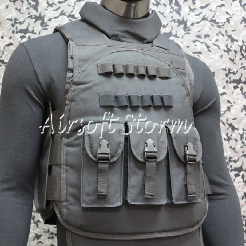 Airsoft SWAT Paintball Tactical Combat Assault Vest Black