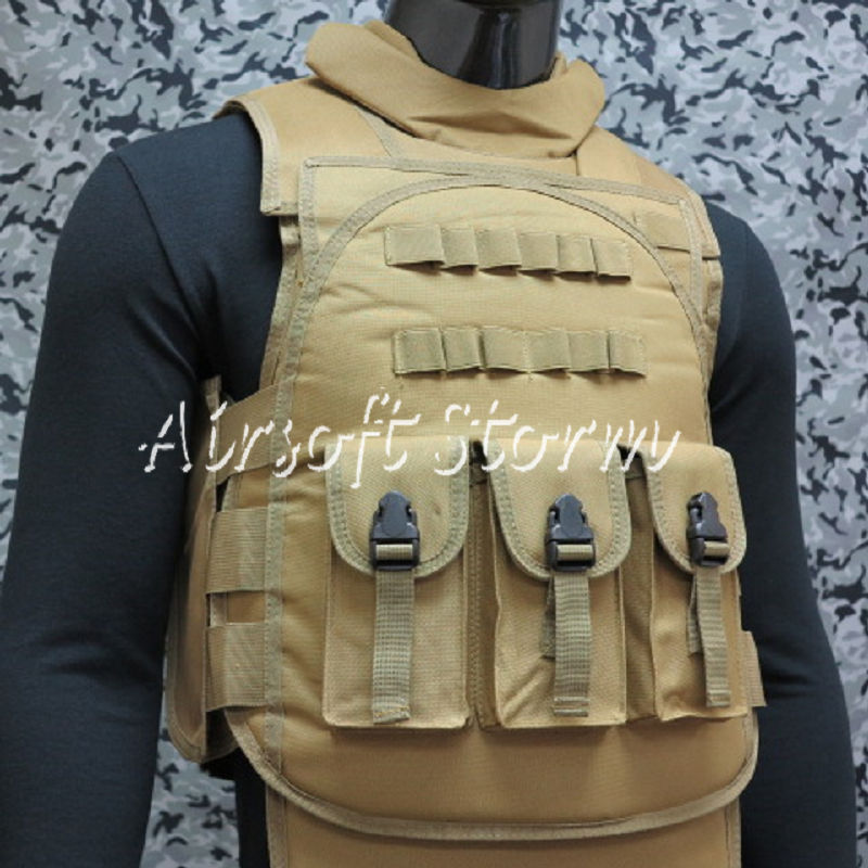 Airsoft SWAT Paintball Tactical Combat Assault Vest Coyote Brown