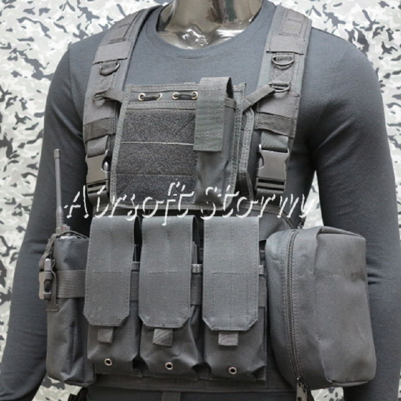 Airsoft SWAT Gear FSBE LBV Load Bearing Molle Assault Vest Black