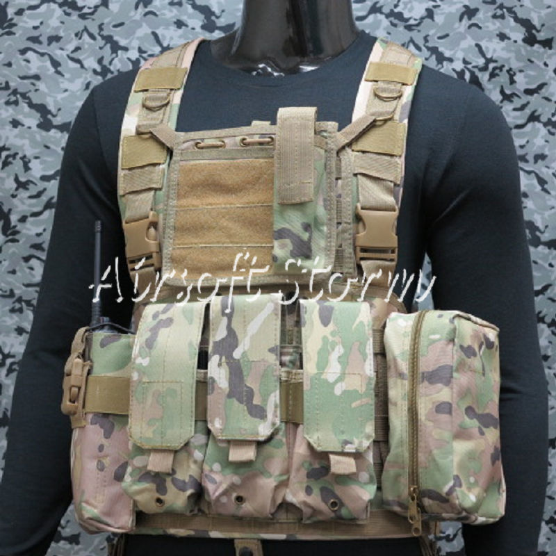 Airsoft SWAT Gear FSBE LBV Load Bearing Molle Assault Vest Multi Camo