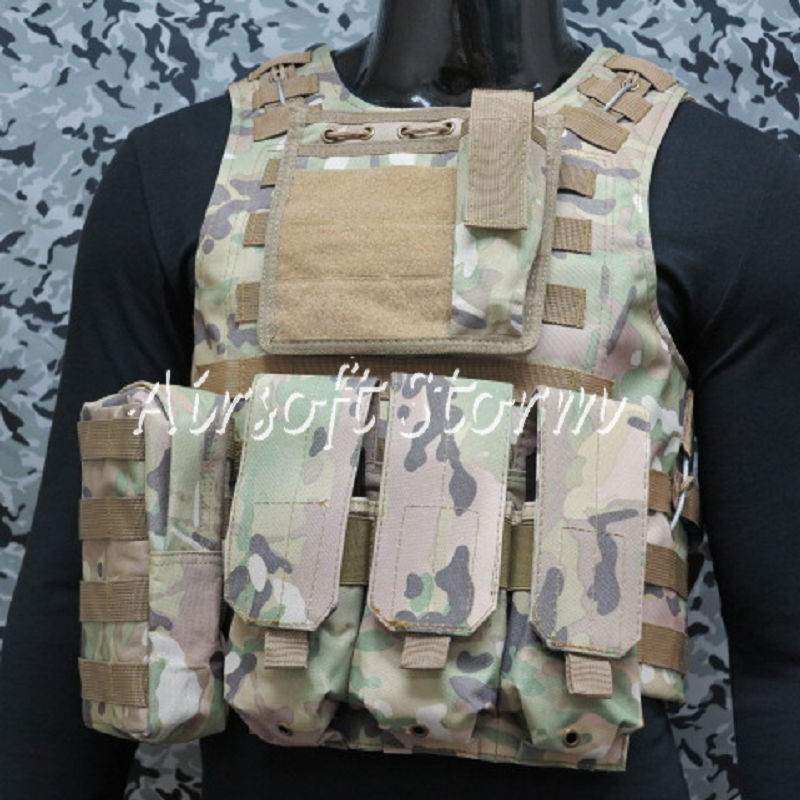 Airsoft Tactical Gear Molle Assault Plate Carrier Combat Vest Multi Camo