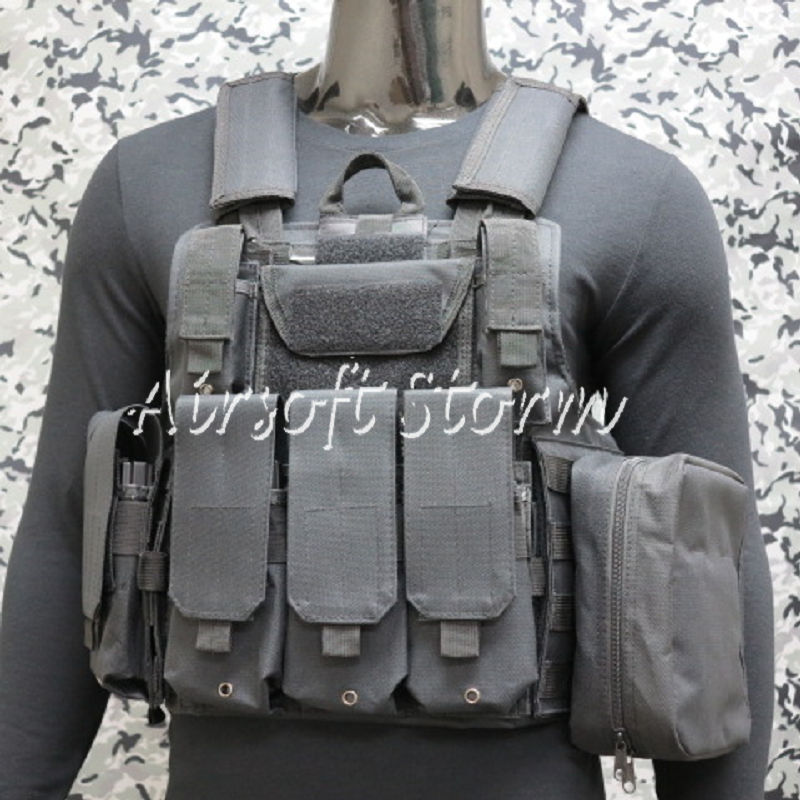 Airsoft SWAT Molle Combat Strike Plate Carrier CIRAS Vest Black