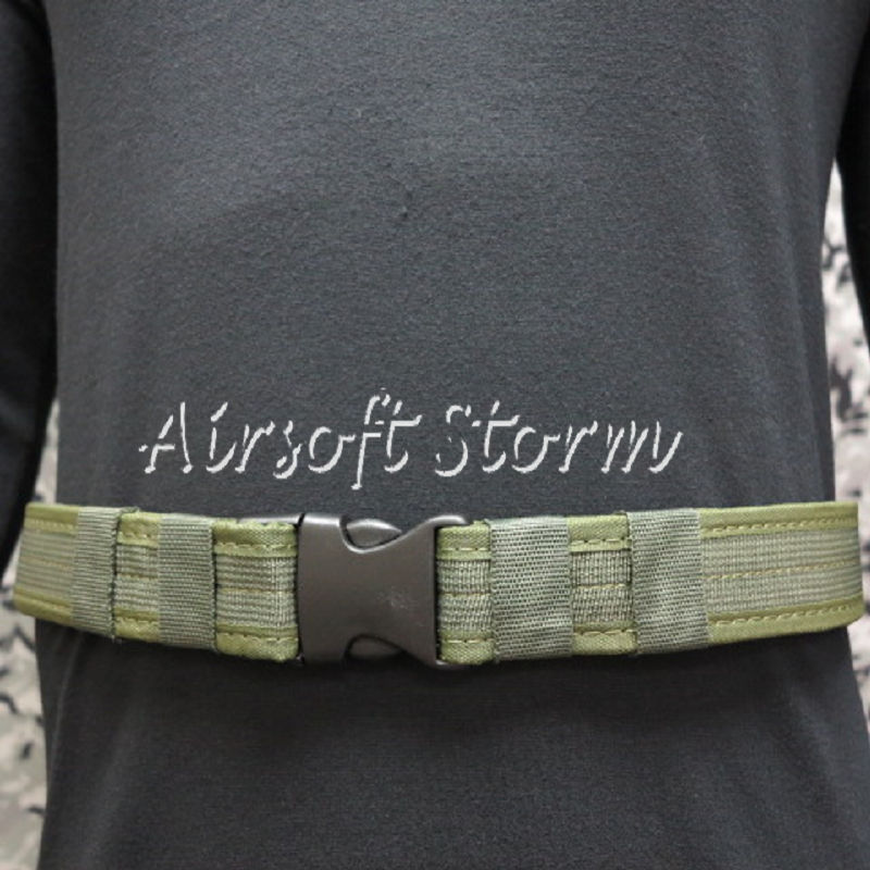 "Airsoft SWAT Tactical Gear Combat BDU 1.5"" Duty Belt Olive Drab OD"