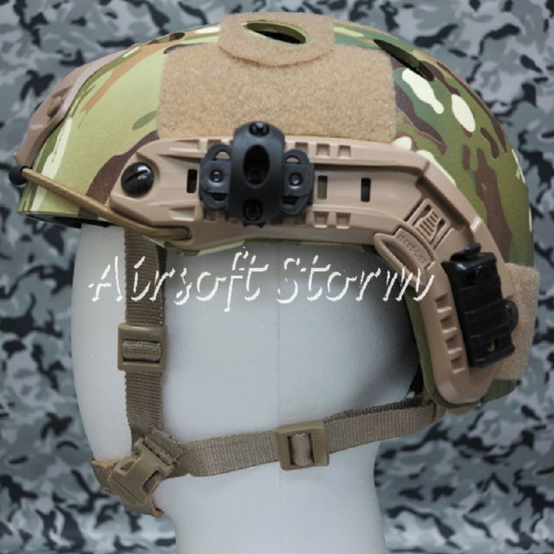 Airsoft Paintball SWAT Tactical FAST Carbon Style Helmet Multi Camo - Click Image to Close