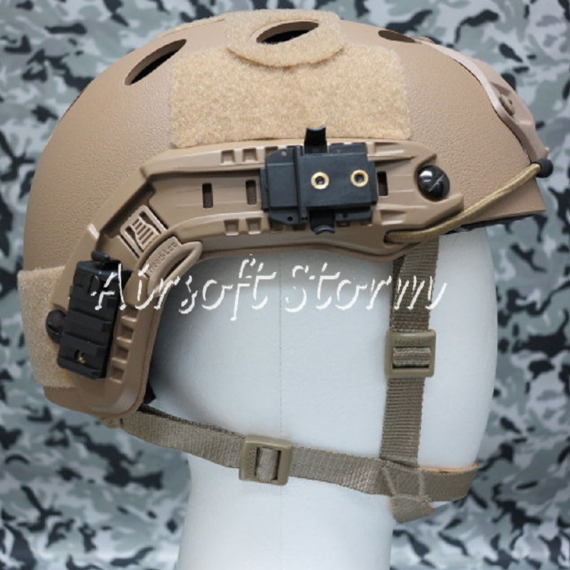Airsoft Paintball SWAT Tactical FAST Carbon Style Helmet Coyote Brown - Click Image to Close