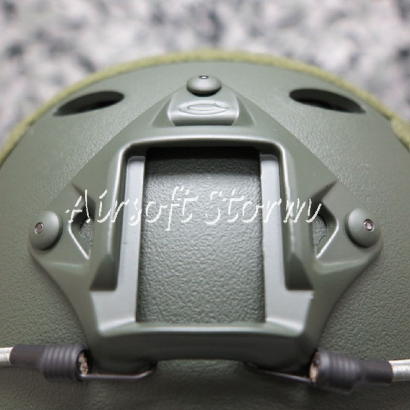 Airsoft Paintball SWAT Tactical FAST Carbon Style Helmet Olive Drab OD - Click Image to Close