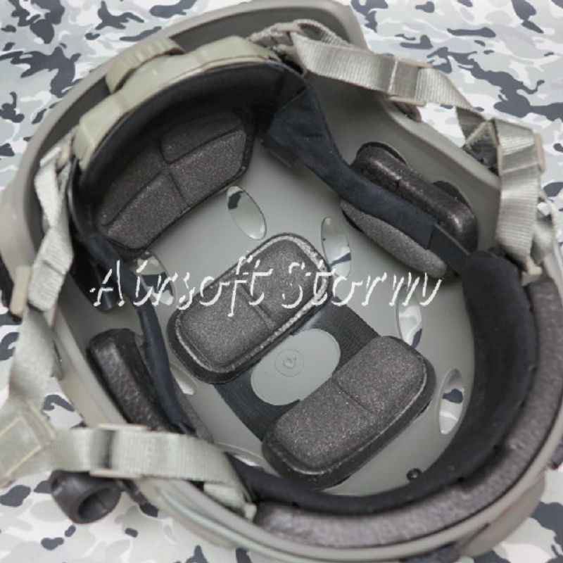 Airsoft Paintball SWAT Tactical FAST Carbon Style Helmet ACU Foliage Green - Click Image to Close