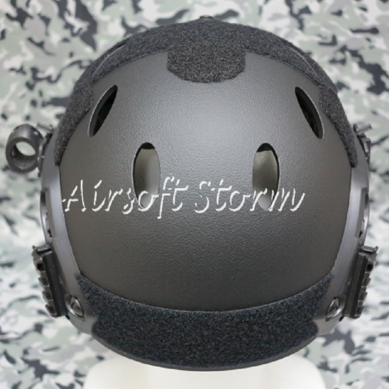 Airsoft Paintball SWAT Tactical FAST Carbon Style Helmet Black - Click Image to Close