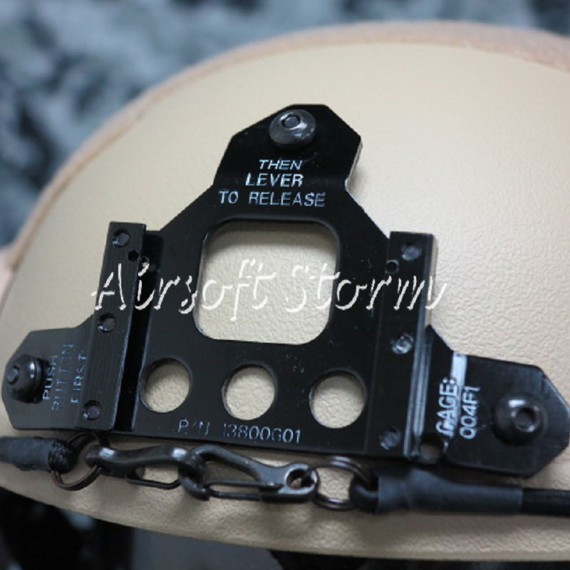 Airsoft Paintball SWAT Tactical Gear IBH Helmet with NVG Mount & Side Rail Desert Tan - Click Image to Close