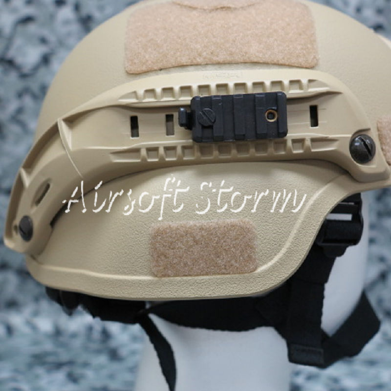 Airsoft Paintball SWAT Gear MICH TC-2000 ACH Helmet with NVG Mount & Side Rail Desert Tan - Click Image to Close