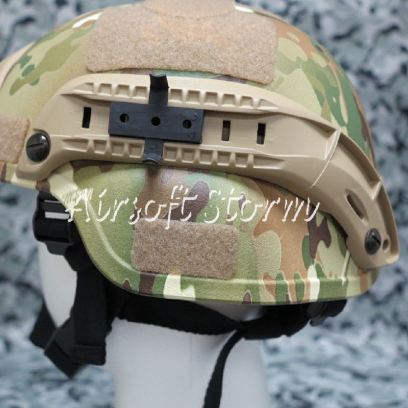 Airsoft Paintball SWAT Gear MICH TC-2000 ACH Helmet with NVG Mount & Side Rail Multi Camo - Click Image to Close