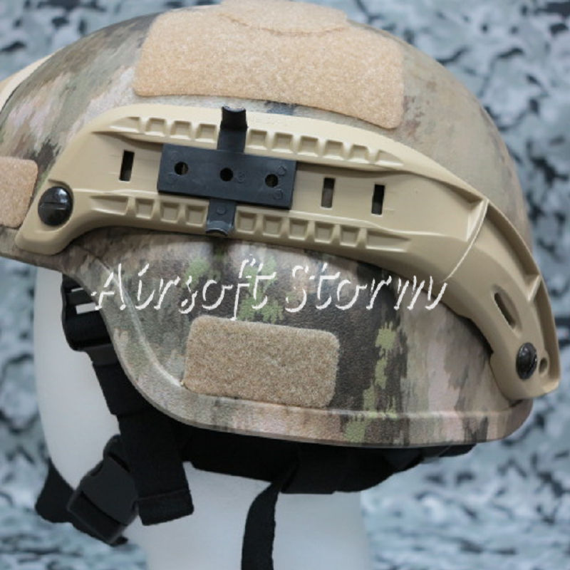 Airsoft Paintball SWAT Gear MICH TC-2000 ACH Helmet with NVG Mount & Side Rail A-TACS Camo - Click Image to Close