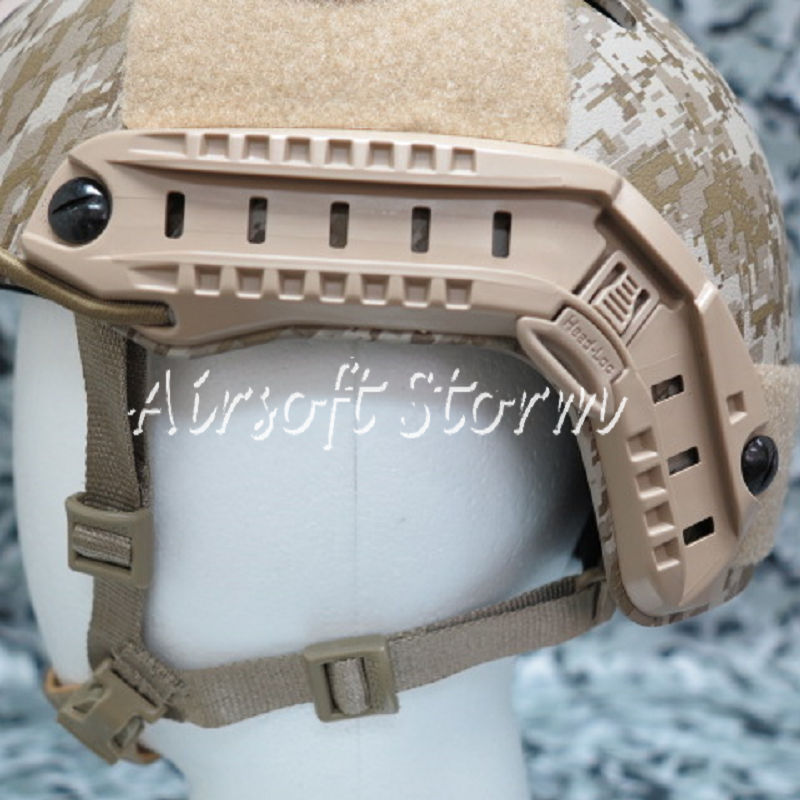 Airsoft SWAT Tactical Gear ARC Helmet Rail for MICH/ACH/PASGT Helmet Desert Tan