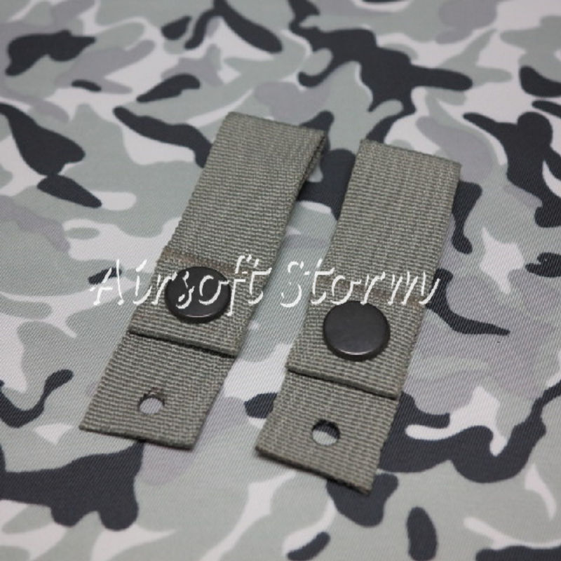 Airsoft SWAT Tactical Gear Helmet Universal Goggle Retention Straps ACU Foliage Green
