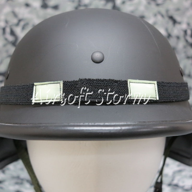 US MIL-SPEC Helmet Reflective Cat-Eyes Band Black PASGT MICH