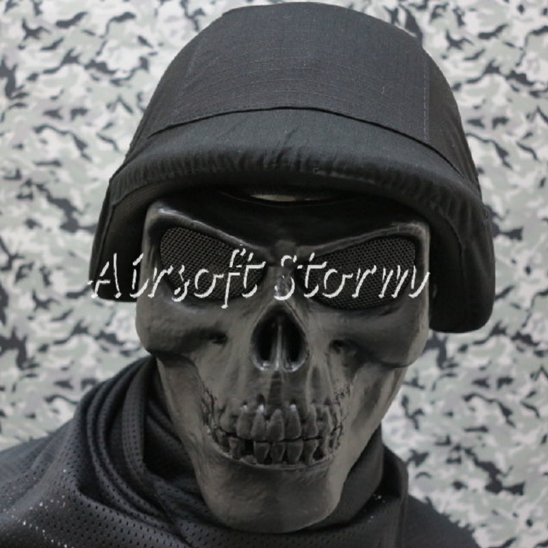 Airsoft SWAT Tactical Gear Seal Skull Skeleton Full Face Protector Mask Black
