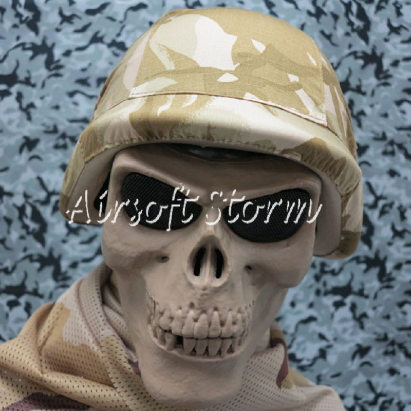 Airsoft SWAT Tactical Gear Seal Skull Skeleton Full Face Protector Mask Desert Tan