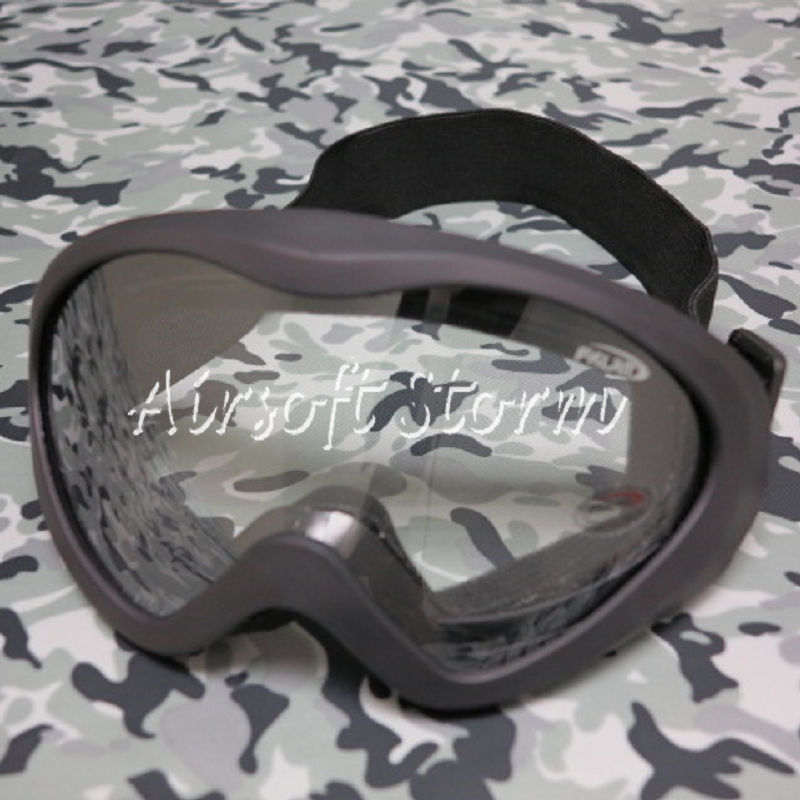 Airsoft SWAT UV400 Wind Dust Tactical Goggle Glasses Black Clear