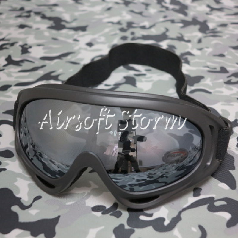 Airsoft SWAT UV X400 Wind Dust Tactical Goggle Glasses Black