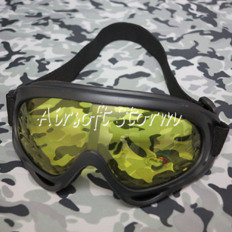 Airsoft SWAT UV X400 Wind Dust Tactical Goggle Glasses Yellow