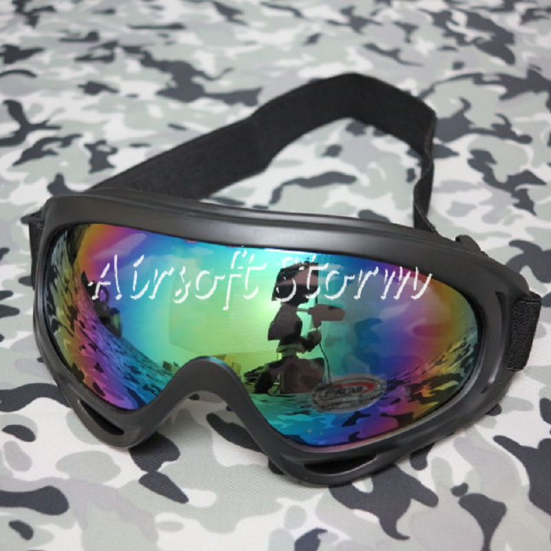 Airsoft UV X400 Wind Dust Tactical Goggle Glasses Multi Color