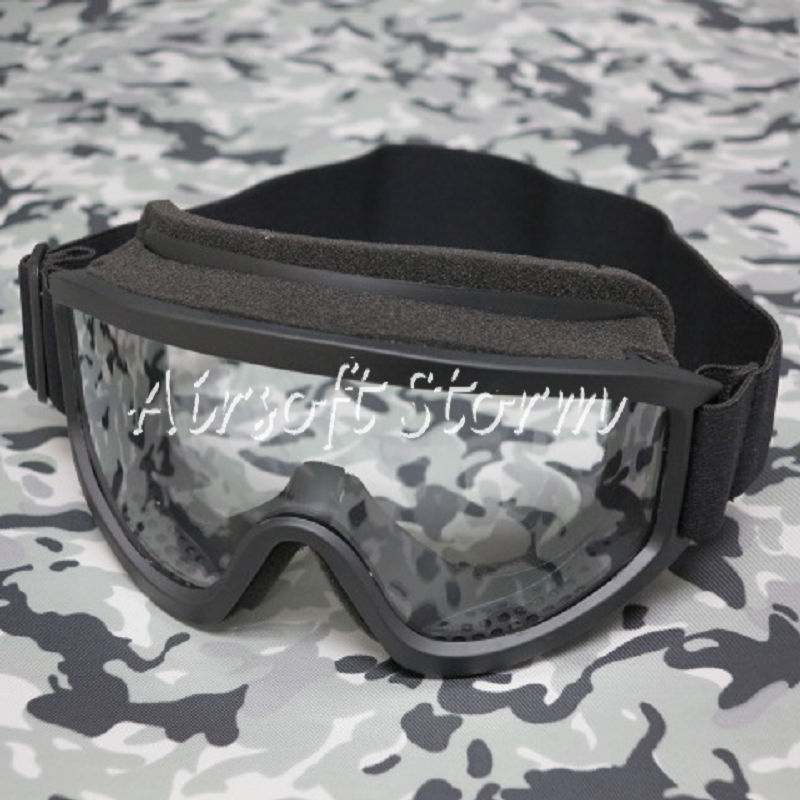 Airsoft SWAT Tactical X500 Goggle Glasses GX2000 Black Clear