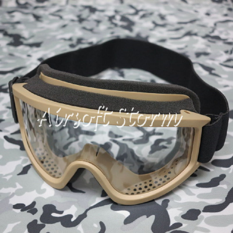 Airsoft SWAT Tactical X500 Goggle Glasses GX2000 Desert Tan